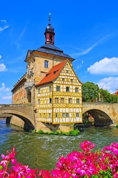 Brückenrathaus in Bamberg, Deutschland