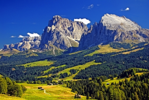 Seiser Alm in Südtirol, Italien