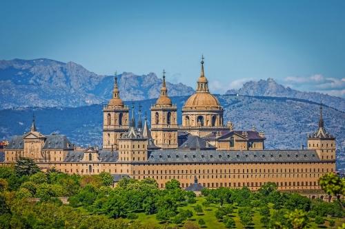 Der königliche Sitz von San Lorenzo de El Escorial, historischer Wohnsitz
