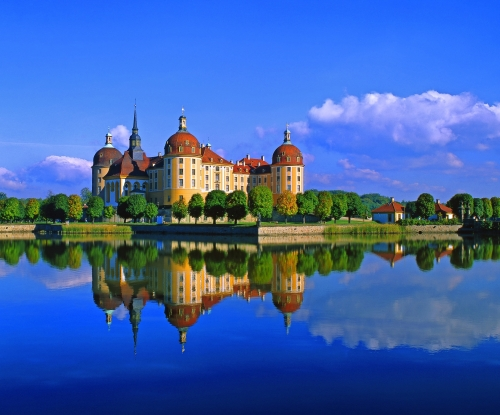 Schloss Moritzburg im Sommer, Deutschland