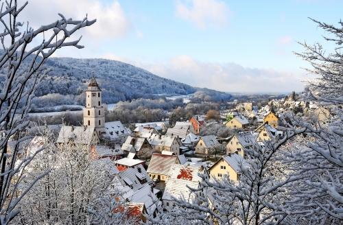 Schnee im Pommelsbrunn