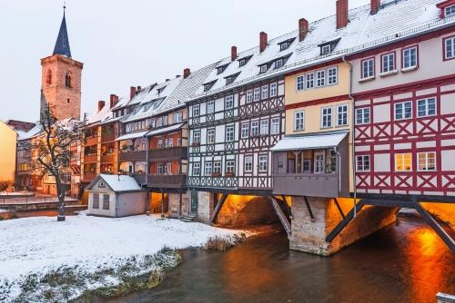 Erfurt in Winter