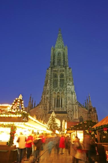 Weihnachtsmarkt in Ulm, Deutschland