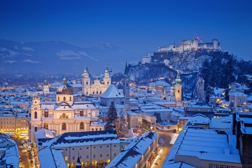 Salzburg im Winter, Österreich