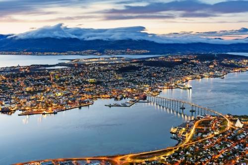 Stadtansicht von Tromso, Norwegen