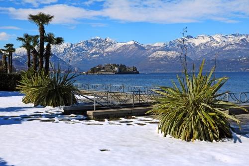 Winter in Stresa am Lago Maggiore, Piemont Italien