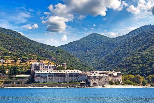 Xenophontos-Kloster auf dem Berg Athos