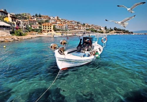 Fischerboot in Pyrgadikia
