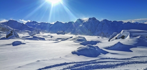 Österreich, Silvretta, Skigebiet Ischgl